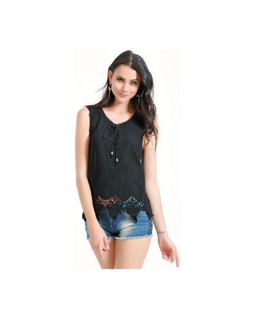 Infinie Passion | Black Top 00w039265 Women's Vest Top In Black | Lyst