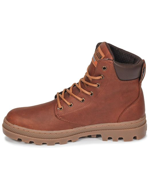 7830579d961 Palladium Pallabosse Sc Wp Men's Mid Boots In Brown in Brown for Men ...