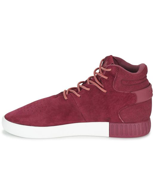 156596f58520 ... Adidas - Red Tubular Invader Shoes (high-top Trainers) for Men - Lyst  ...