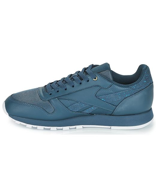 0525d105b0a30 ... Lyst Reebok - Classic Leather Men s Shoes (trainers) In Blue for Men ...