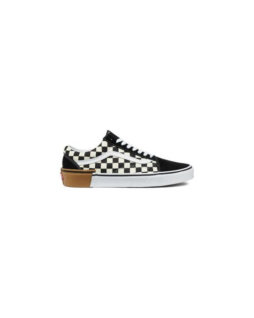 Vans - Old Skool Checkerboard Men s Shoes (trainers) In White for Men - Lyst 969d9643d