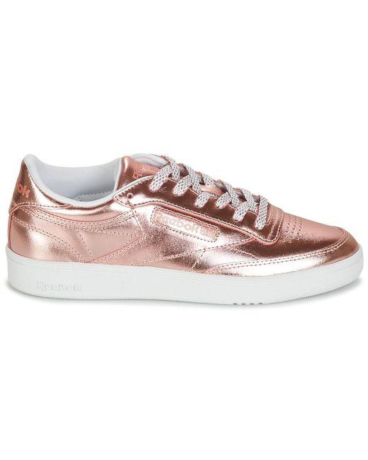f8fc72a45fb ... Reebok - Pink Club C 85 S Shine Shoes (trainers) - Lyst ...