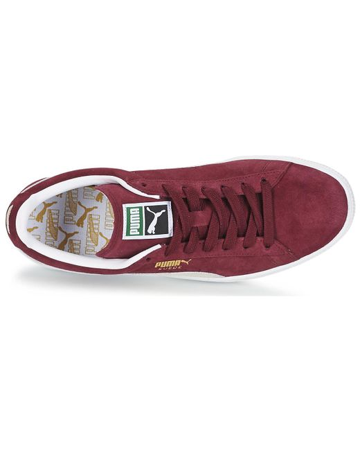 ... Lyst PUMA - Suede Classic Men s Shoes (trainers) In Red for Men ... 2802a556e
