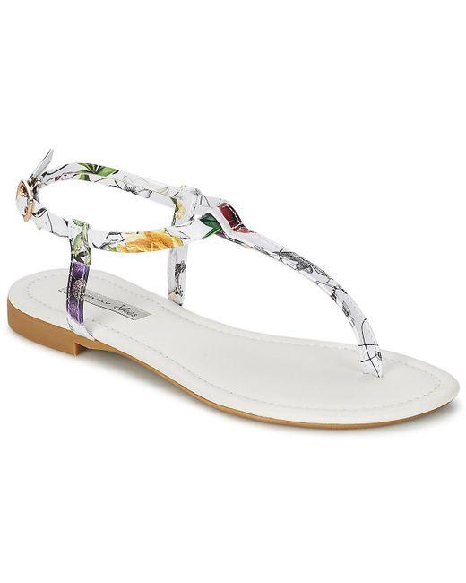 Tosca Blu | White Calypso Zinette Women's Sandals In Multicolour | Lyst