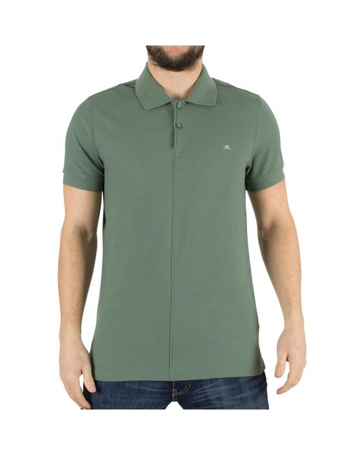 J.Lindeberg | Men's Rubi Slim Fit Logo Polo Shirt, Green Men's Polo Shirt In Green for Men | Lyst