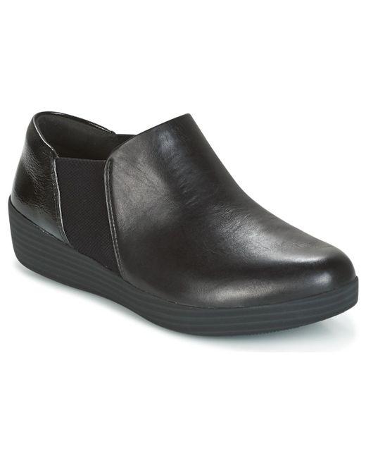 Fitflop - Elastic Panel Shoe Bootie Women's Slip-ons (shoes) In Black - Lyst