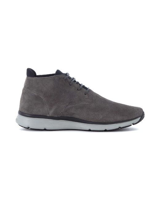 ... Hogan | Gray Sneaker New Urban Style In Nabuk Grigio Men's Shoes ( trainers) In ...