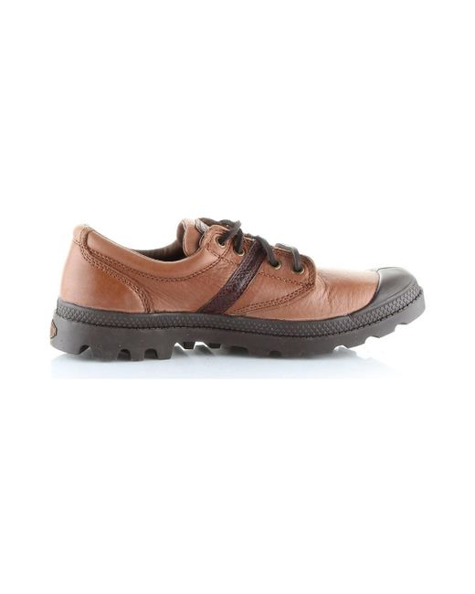 Palladium - Pallabrouse Ox Lea Men's Shoes (trainers) In Brown for Men - Lyst