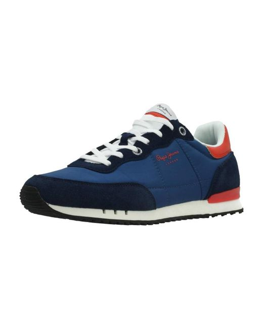 Pepe Jeans - Tinker Basic Nylon Men s Shoes (trainers) In Blue for Men ... 23a1cdd582