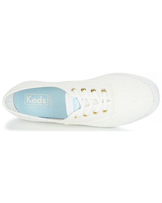 71b0769562d72 ... Keds - White Champion Dot Eyelet Shoes (trainers) - Lyst ...