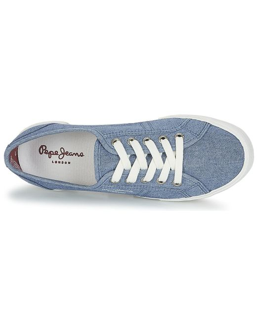 competitive price aaa8d 9a2b3 pepe-jeans-blue-Aberlady-Eighty-Womens-Shoes-trainers-In-Blue.jpeg
