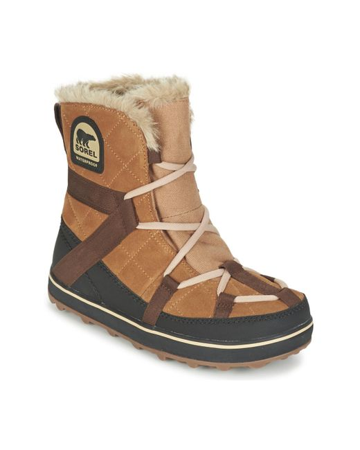Sorel   Glacy Explorer Shortie Women's Snow Boots In Brown   Lyst