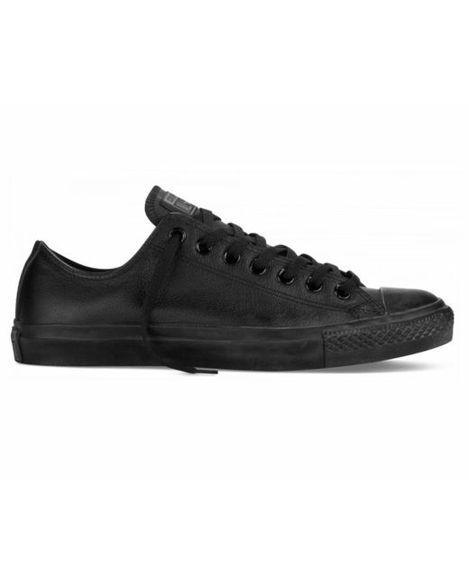 b3c6716ab7b2 Converse - Chuck Taylor All Star Ox C Leather Trainers Black Mono for Men -  Lyst ...