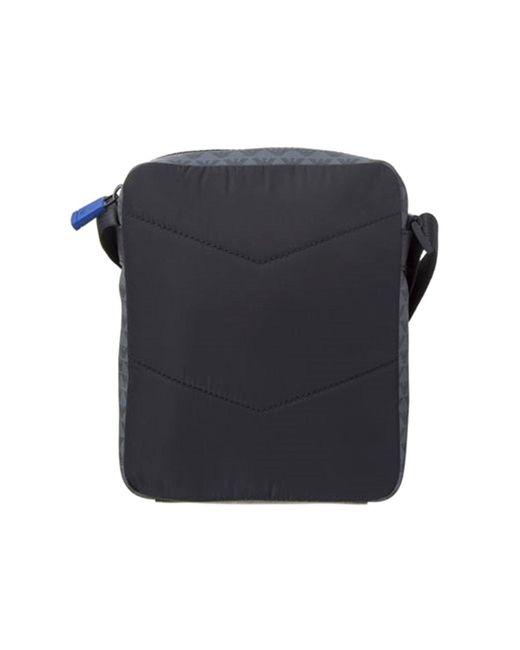01b6f4becd0d ... Emporio Armani - Crossbody Pvc Logo Messenger Bag Black for Men - Lyst  ...