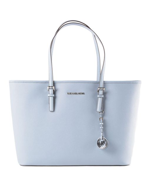 Michael Kors - Blue Jet Set Travel Md Tz Mult Funt Tote - Lyst
