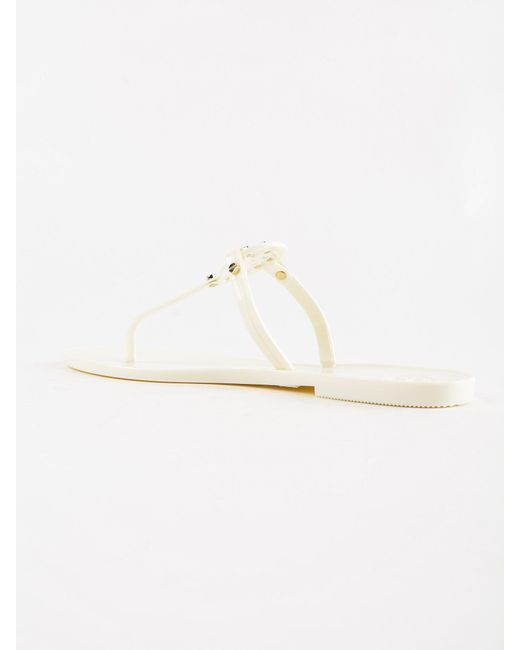 7cd316318 ... Lyst Tory Burch - White Mini Miller Flat Thong (rose Gold) Women s  Sandals ...