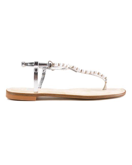 Twin Set - Metallic Sandal - Lyst
