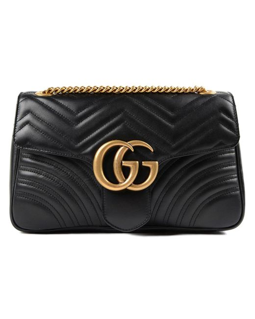 f4501817919c Gucci - Black W Gg Marmont 2.0 Bag - Lyst ...