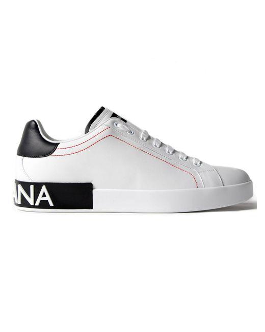 Dolce & Gabbana - White Portofino Sneakers Vit.nap for Men - Lyst