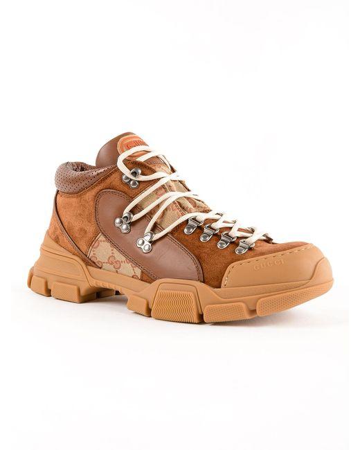 a894d7132 ... Gucci - Brown Sneaker Flashtrek Gg for Men - Lyst ...