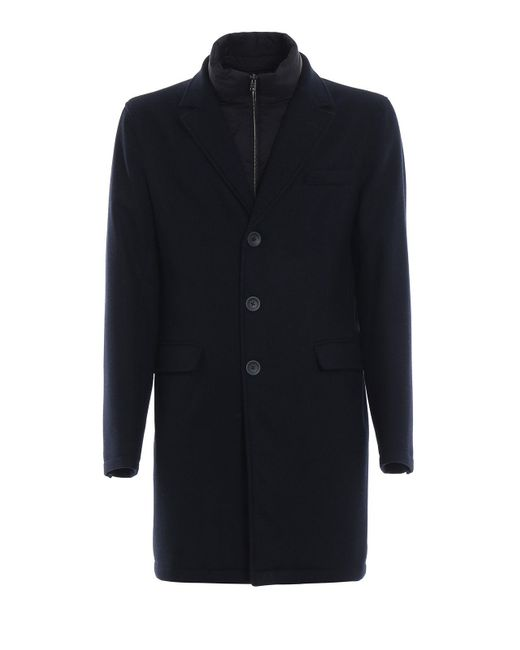 Herno - Blue Loro Piana Capolavoro Wool Coat for Men - Lyst