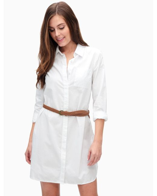 Splendid crisp cotton shirt dress in white save 50 lyst for Crisp white cotton shirt