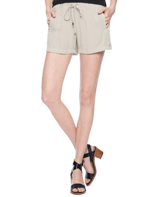 Splendid | Natural Rayon Voile Shorts | Lyst
