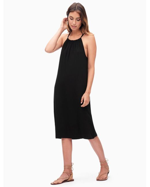 Splendid   Black Midi Dress   Lyst