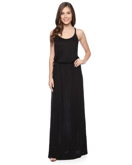 Splendid   Black Midnight Jersey Maxi Dress   Lyst