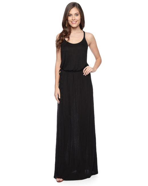 Splendid | Black Midnight Jersey Maxi Dress | Lyst