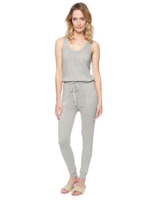 Splendid   Gray Sweater Jumpsuit   Lyst