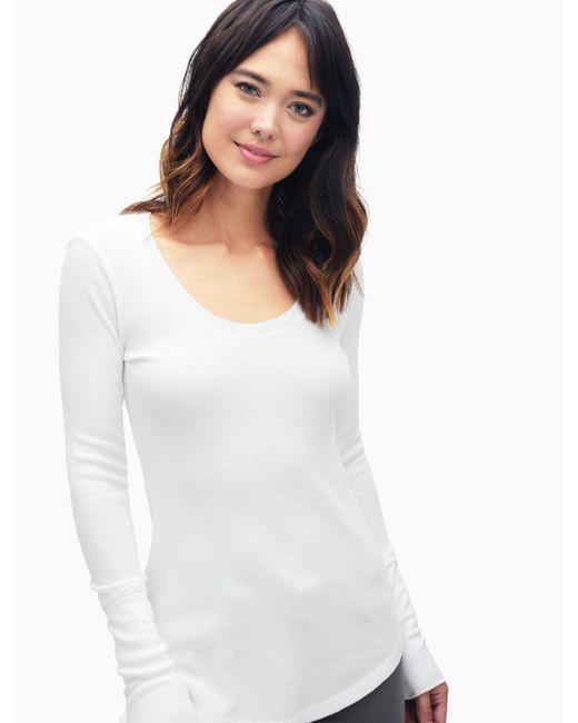 Splendid   White Nordic Thermal Long Sleeve Top   Lyst