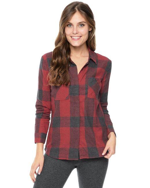 Splendid | Red Wildwood Plaid Shirt | Lyst