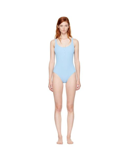 Solid & Striped | Blue Staud Edition 'the Veronica' Swimsuit | Lyst