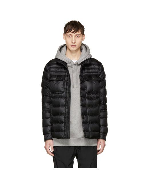 Moncler | Black Down Forbin Jacket for Men | Lyst