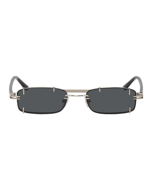 e71d3ade35 Y. Project - Metallic Silver And Black Linda Farrow Edition Neo Sunglasses  for Men ...