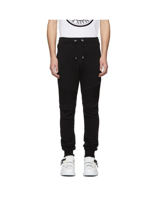 Balmain - Black ブラック バイカー ラウンジ パンツ for Men - Lyst