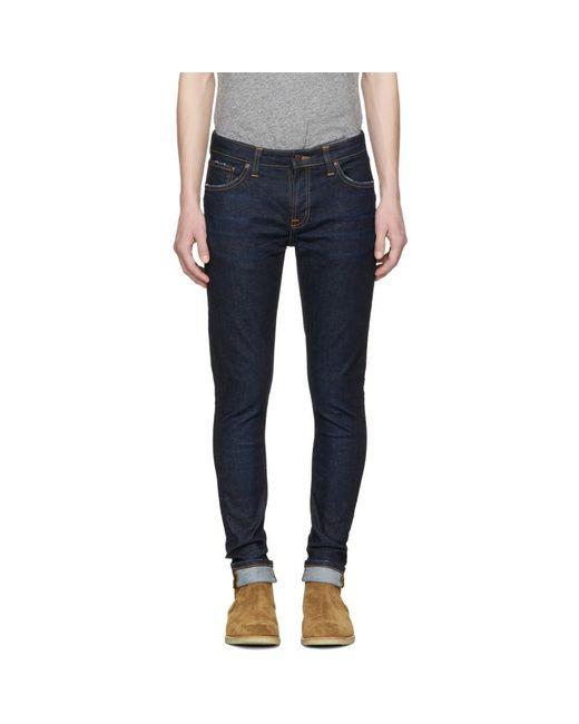 Nudie Jeans - Blue Indigo Skinny Lin Jeans for Men - Lyst