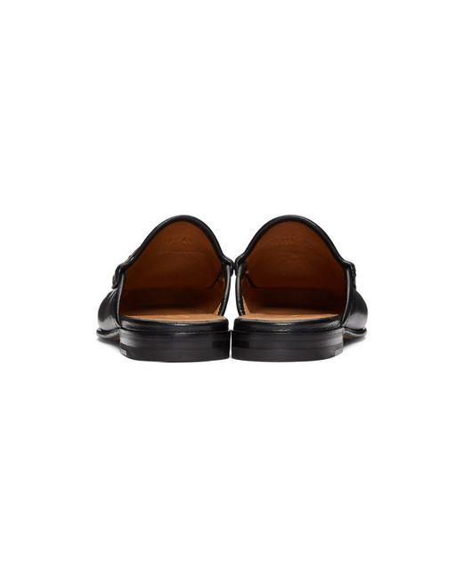 15bf1c0bf8c ... Gucci - Black Slip-on Roos Loafers for Men - Lyst ...
