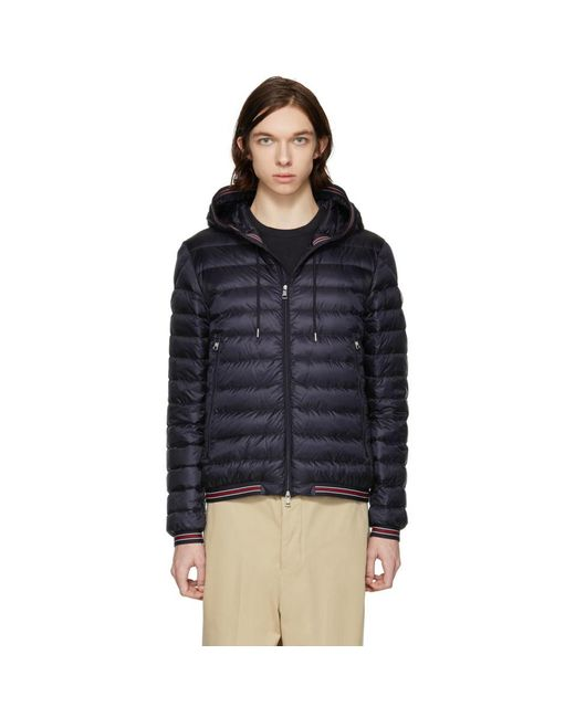 Moncler - Blue Navy Down Eliot Jacket for Men - Lyst