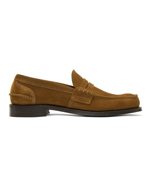 Church's - Brown Tan Suede Pembrey Loafers for Men - Lyst