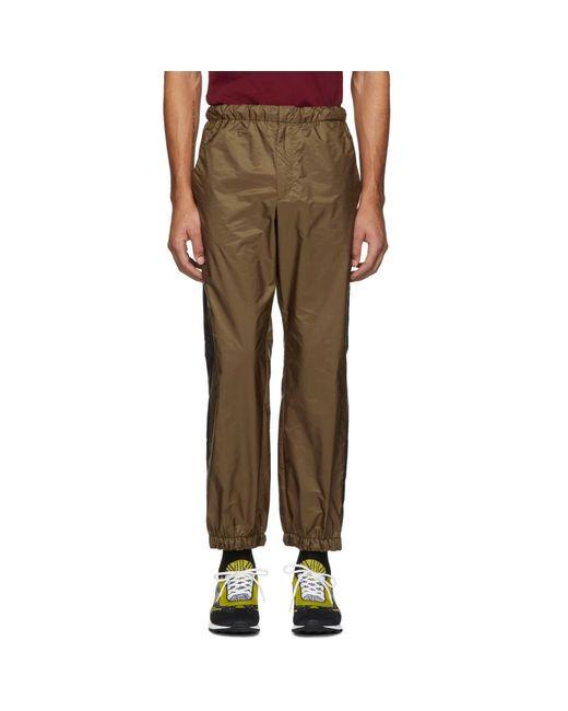 Prada - Brown タン ストライプ ラウンジ パンツ for Men - Lyst