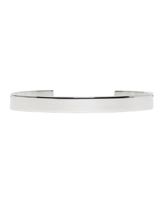Le Gramme - Metallic Silver Polished 'le 21 Grammes' Cuff for Men - Lyst