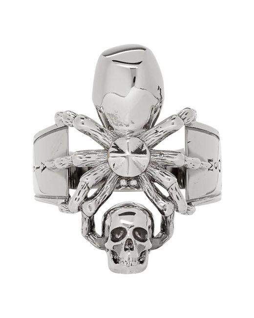Alexander McQueen - Metallic Silver Spider Ring for Men - Lyst