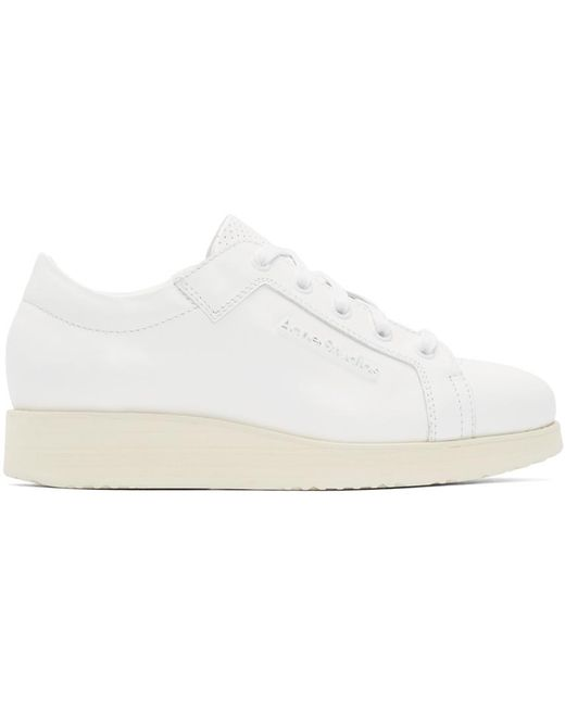 Acne | White Kobe Leather Sneakers | Lyst