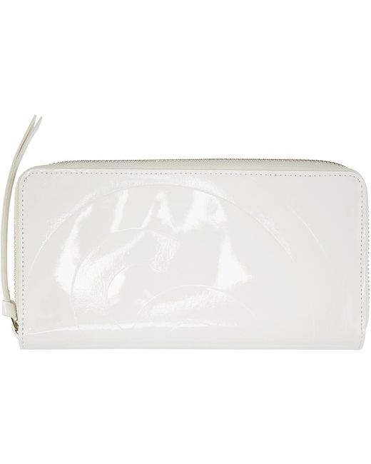 MM6 by Maison Martin Margiela | White Patent Continental Wallet | Lyst