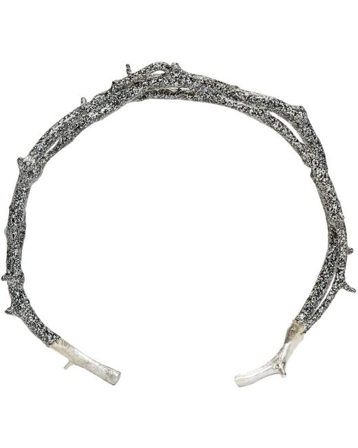 Pearls Before Swine   Metallic Silver Thorn Cuff   Lyst