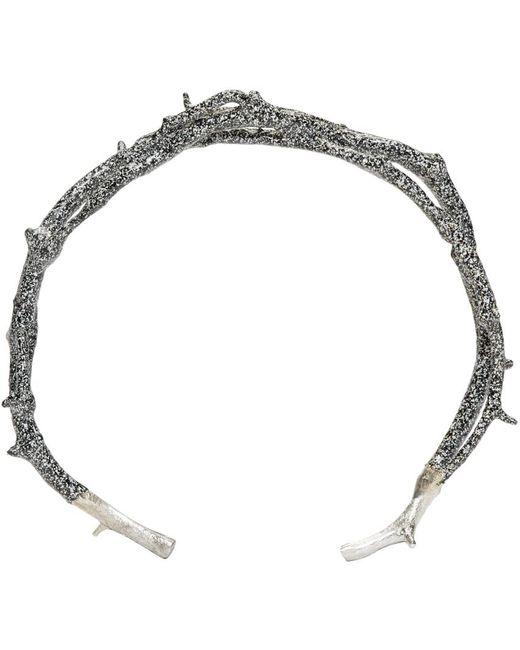 Pearls Before Swine | Metallic Silver Thorn Cuff | Lyst