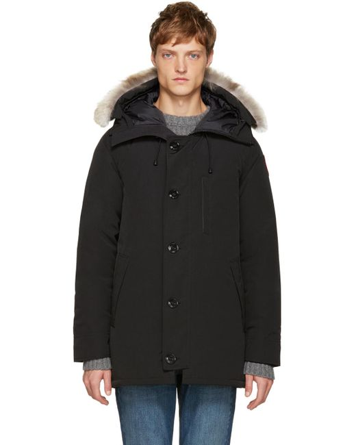 Canada Goose | Black Chateau Parka With Fur Hood for Men | Lyst