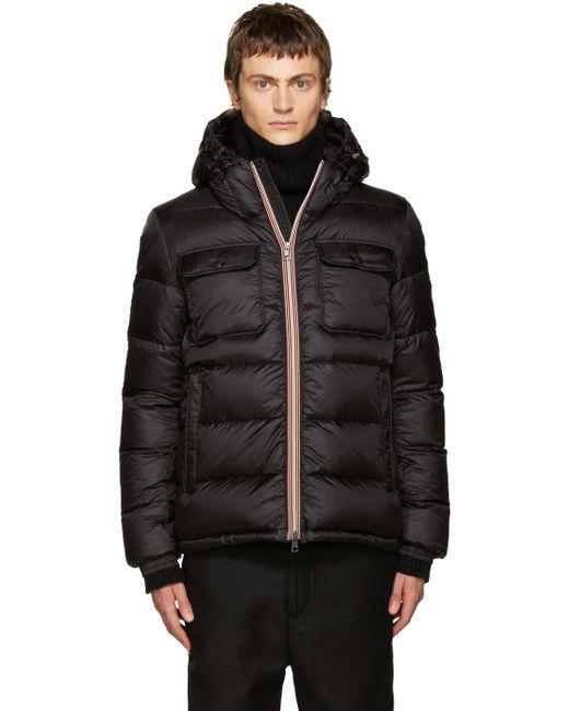 Moncler   Black Down Morane Jacket for Men   Lyst